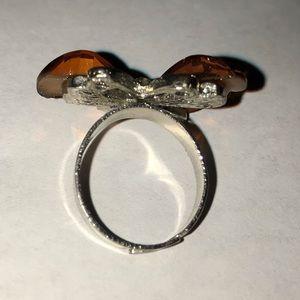 Jewelry - Glossy enamel butterfly ring